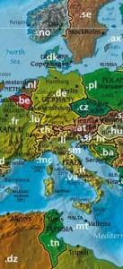Domain Weltkarte Ausschnitt